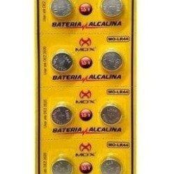 10 Bateria Mox Mo-lr44 1.5v Alcalina 1 Cartela Lr44 Lr-44