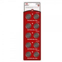 10 Pcs Bateria Moeda Cr2430 3v Pilha Lithium Líto Cartela