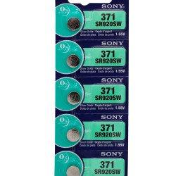 5X Bateria Pilha Original Relogio Sony 371 Sr 920 SR920SW