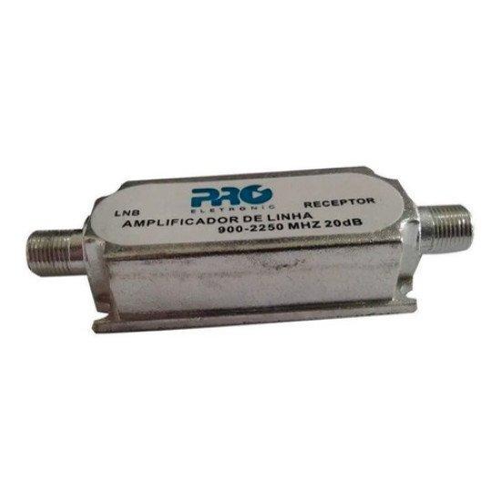 Amplificador De Linha Satelite Lnb 20db Pro PQAL-2010a
