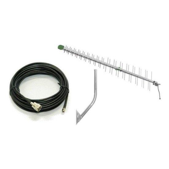 Antena 3g/4g Tel Full Band / Cabo 10m Sma 700 ~ 2600 Mastro