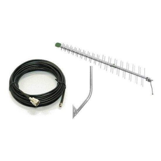 Antena 3g/4g Tel Full Band / Cabo Sma 700 ~ 2600 Mhz Mastro  - 15MT