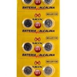 Bateria Ag10 390 Lr1130 189 Mox Alcalina Cartela 10 Unidades