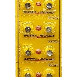 Bateria Ag3 Lr41 736 392 Mox Alcalina Cartela 10 Unidades