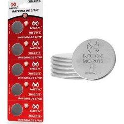 Bateria De Lítio Botão 3v Cartela C/ 5 Mox Mo-cr2016 MO-2016