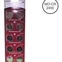 Bateria De Lítio Pilha Cr 2450 Mox Cartela Com 10 Cr2450