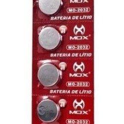 Bateria Mox De Lítio Botão 3v Cartela Com 5 Cr2032 MO-2032
