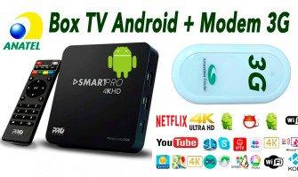 Modem 3G com TV BOX Que TRANSFORMa SUA TV EM UMA SMART TV