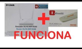 Teste Roteador WIFI 4G D-Link DWR-116 com Modem 4g Olivetti Olicard 600