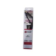 Cabo Usb iPhone 7 Dotcell Dc-1114 Preto Super Resistente