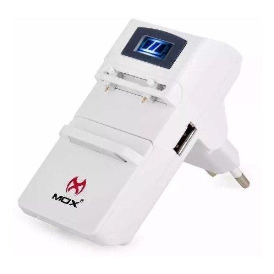 Carregador Bateria Celular Universal Digital Mo-u62 Mox U62