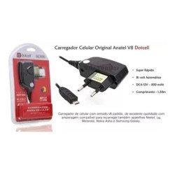 Carregador Celular Original Anatel V8 Micro Usb TCV8 dotcell