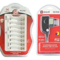 Carregador De Pilhas Aa Aaa Mox com 8 slots para pilhas AA ou AAA Micro Usb Cp80