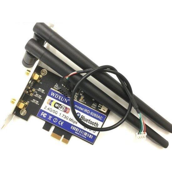 Dual Band 1x Desktop Pci-e Sem Fio Ac-9260 Ghz Intel 80211ac WDXUN