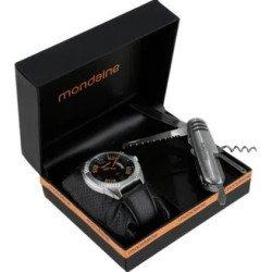 Kit Relógio   Canivete Suíço Masculino Mondaine 53502g0mgnh  - Preto - Prateado - Preto