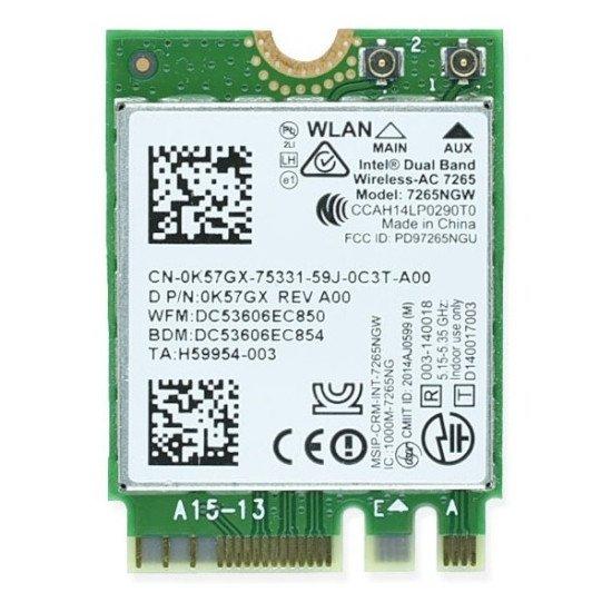 Placa Intel Wireless Ngff 7265ngw Ac Bluetooth 4.2 Wifi 867m