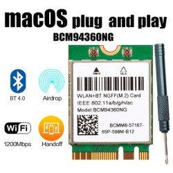 Placa Wifi 1200mb Bcm94360ng = Bcm94352z Dw1560 Hackintosh