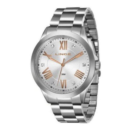 Relógio Feminino Com Strass Lince Lrmj046l- S3sx De Vltrine - Prata - Prata - Prata