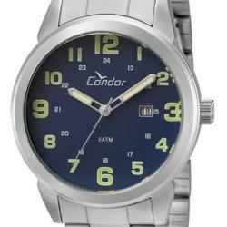 Relógio Masculino Condor Co2115ulk3a Usado - Leia O Anúncio - Prateado - Prateado - Azul-marinho