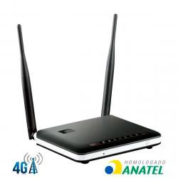 Roteador Wireless 4g E 3g 300mbps D-link Dwr-116 2 Ant Preto