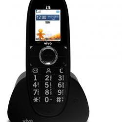 Telefone 3g Gsm Zte Wp750 Novo Vivo Tim Oi Claro Fixo Preto - Preto
