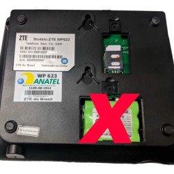 Telefone Zona Rural Celular Fixo Mesa Chip   Conector Tnc - Preto